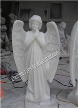 White Lady Angle, White Marble Sculpture & Statue