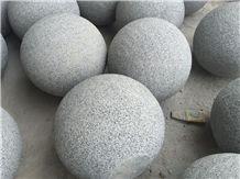 China G654 Dark Grey Granite Parking Stone Ball