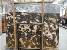 Golden Butterfly Marble Slabs & Tiles, China Yellow Marble