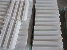 White Marble Molding, White Marble Border