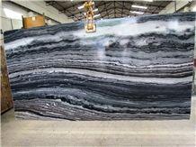 Mercury Black Marble Slabs & Tiles, India Black Marble