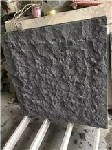 Shanxi Black Granite Cleft Natural Surface Wall Facades Stone