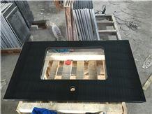 Black Granite Vanity Top, Black Granite Bath Tops