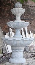 Super Good 3 Tier White Marble Water Fountain