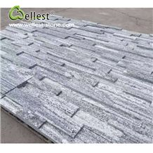 Cloudy Grey Granite Split Surface Ledge Culture Stacked Stone Pannel for Interior Exterior Feature Wall Vaneer Cladding Decor and Pool Waterfall