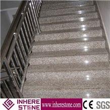 Cheapest Stone Peach Red G687 Granite Stairs & Steps, Gutian Peach Flower Red Granite Stair Riser, Staircase