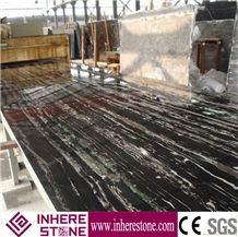 China Nero Portoro Silver White Marble Slabs, Silver Dragon Marble Tiles