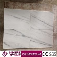 Chinese White Marble Tiles & Slabs, China Carrara White Marble, Guangxi White, Carla White, Ivory Jade Marble Florring Covering