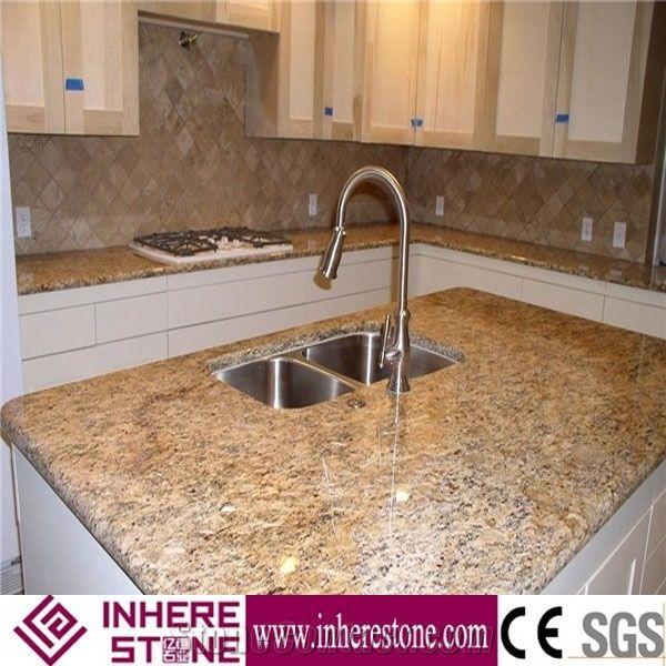 Giallo Santa Cecilia Brazil Granite For Countertop Gold Kitchen Tops Clic Bar Top