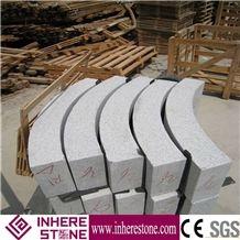 Sesame White G603 Granite Curbstone, Padang Light Granite Kerbstones, China Cristall Kerbs, Gamma Bianco Granite Road Stone