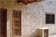 Quarzite di Barge Grigio Facade- Yellow-gray Barge Quartzite tiles and flagstones
