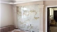 White Artificial Stone Wall Panel, Engineered Manmade Honeycomb Panels