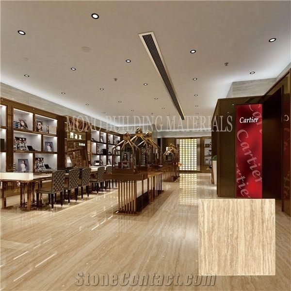 Modern Design Glossy Travertine Porcelain Tile Prices from ...