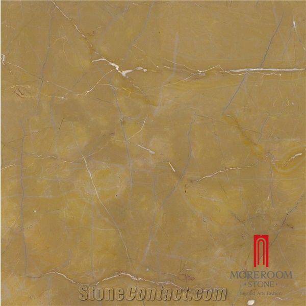 Polished Spain Amarillo Oro Marble Porcelain Ceramic Floor Tile