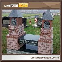 Hot Sale High Granite Outdoor Memorial Gateway for Park Scenery Spot