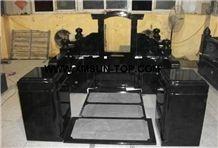 Shanxi Black Granite Japanese Style Monuments&Tombstones/Absolute Black Granite Korean Style Monuments&Tombstone/Diamond Black Granite Asian Style Monuments&Tombstone