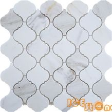 Calacatta gold marble mosaic from ICE STONE/ floor mosaic/hexagon mosaic/Beige marble mosaic/linear strips mosaic/