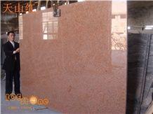 China Xinjiang Tianshan Red/Chinese Cheap Granite Red Color Tiles/Stripe/Gangsaw Slabs/Wall/Floor Covering/Skirting