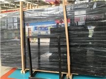 Dark Grey Marble for Wall Decorative Material Black Marble with White Veins Silver Dragon Marble Slabs