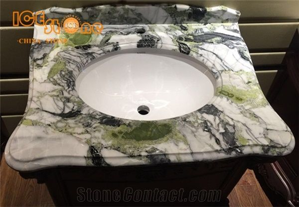 Merveilleux Ice Connect Marble Bathroom Tops/Ice Green Stone Bathroom Vanity Tops/Natural  Building Stone/China Green Marble Bath Tops