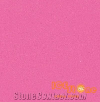 Pure Rosy Pink Color Quartz Stone Solid Surfaces Polished Slabs Tiles Engineered Artificial For Hotel Kitchen Bathroom Backsplash Walling