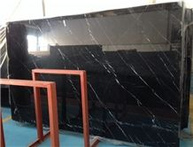 Nero Marquina Marble Polished Slabs Tiles