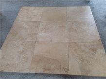 Turkey Classic Travertine Tiles Eco Medium Honed and Filled Cross Cut
