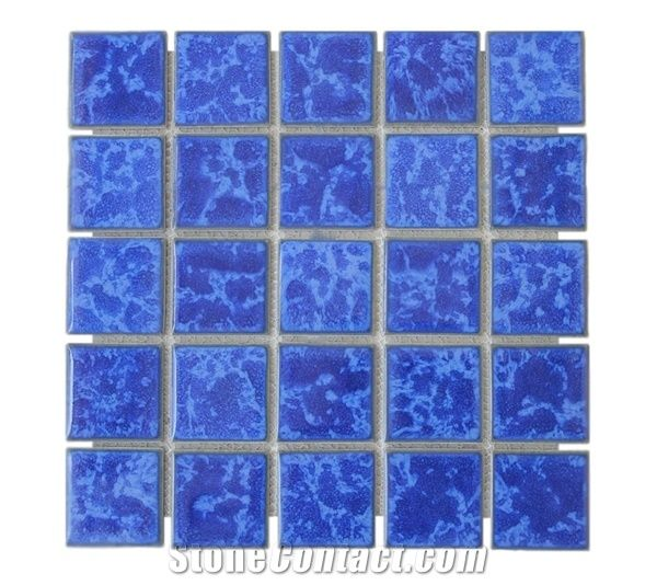 Bali Glazed Ceramic Mosaic Swimming Pool Tiles Indonesia