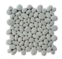 White Pebbles Mosaic, Slice White Pebbles Wall Mosaic, White Pebbles Floor Mosaic