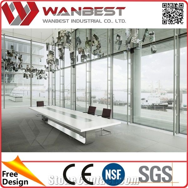 Person Conference Table Artificial Stone Meeting TableReception - 14 person conference table