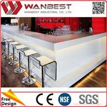 Acrylic Solid Surface Coffee Bar Counter Luminous Bar Counter/ Bar Top