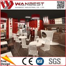 Customized Artificial Stone Bar Tables, Solid Surface Cafe Bar Counters