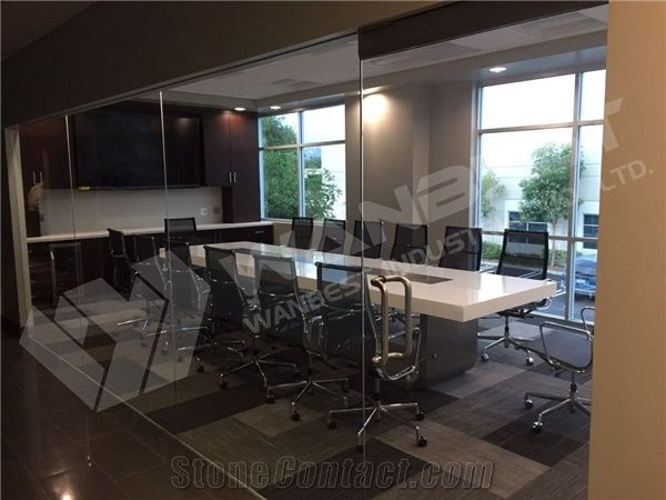 New Products Comfortable Artificial Quartz Stone Seater - 10 seater conference table