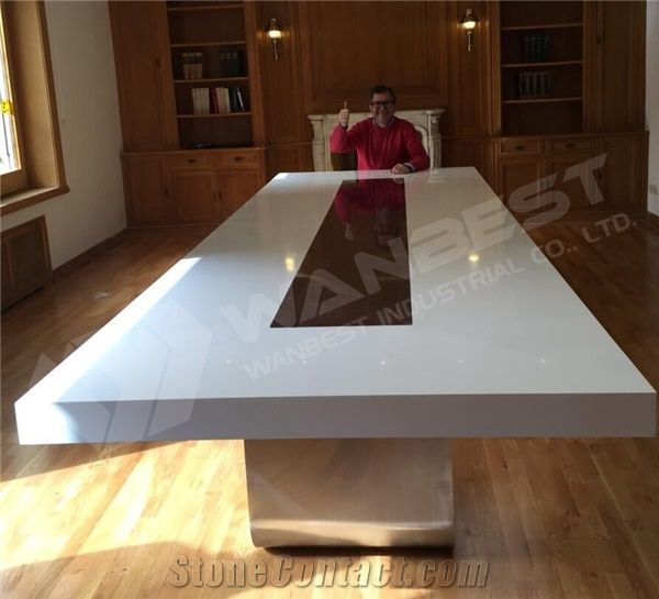 Office Meeting Furniture Marble Top Conference Table With Seater - 12 seater conference table