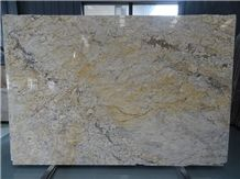 Own Factory High Quality Cheapest Polished Golden Flower Granite Slabs & Tiles & Cut-To-Size for Floor Covering and Wall Cladding,Chinese Yellow Granite for Project/Hotel/House,Large Quantity in Stock