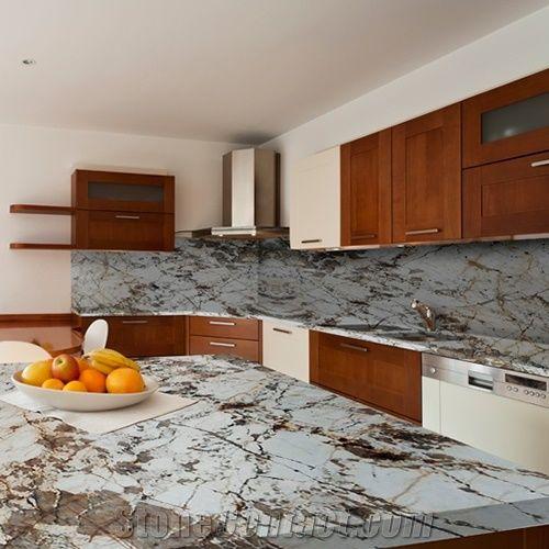 Blanc Du Blanc Granite Kitchen Island Top From United States
