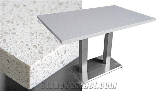 Classic Crystal White Quartz Stone Table Top Interior Stone Design,Square  Engineered Stone Dinner Desk,Solid Surface Artificial Quartz Coffee Table  ...