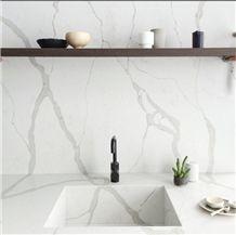 Manufacturer Bianco Calacatta Marble Look White Quartz