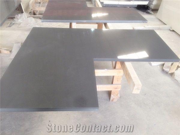 Manufacturer Pure Grey Quartz Stone Kitchen Islands Work