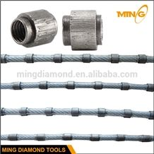 Diamond Wire Saw for Stone Cutting with 6.4mm 7.3mm Diamond Wire Saw Beads