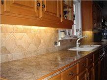 Tumbled Travertine - Chiseled Edge Countertop Backsplash Wall Tiles