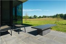 Olympic Black Granite Table, Terrace Pavement, Therlal Finish