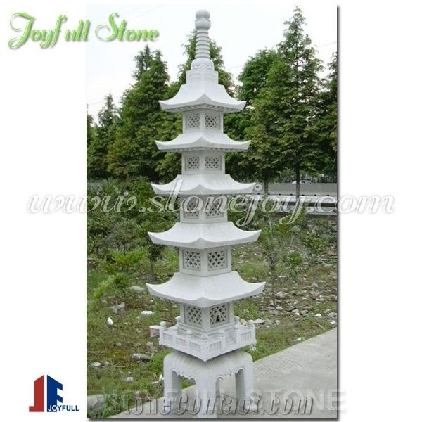Garden Stone Pagoda, Grey Granite Lanterns, Lamps