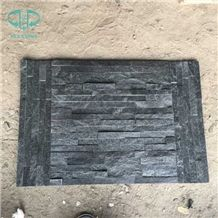 China Black Quartzite Stone, Culture Stone for Feature Wall,Brick Stacked Stone, Ledge Stone