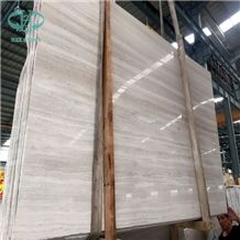 China Wooden White Marble Wall Cladding Covering Tiles, Wooden Grey Marble Slab, Wooden Vein Marble,Guizhou Serpeggiante, White Timber Marble Tile, Chinese Silver Palissandro