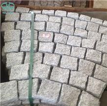 Chinese G603 Light Grey Granite Fan Pattern Cobble Setts,Cobble Stone,Cube Stone,Paving Sets,Cobblestone,Driveway Paving Stone,Walkway Pavers,Patio Pavers,Square Cube Stone