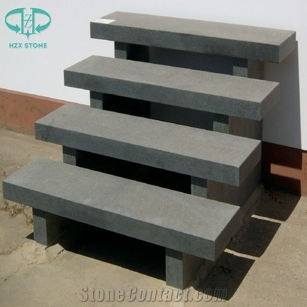 Chinese G654 Pandang Dark Grey Granite Steps,Exterior Outdoor Steps,Deck  Stairs,Stair Riser,Stair Treads,Staircase