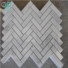 Eastern White Marble Mosaic Tile,Oriental White Marble Mosaic,Dynasty White Marble Mosaic ,Polished Mosaic Pattern and Tiles,China White Marble Mosaic Tiles and Pattern for Wall & Floor Covering