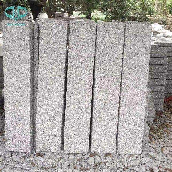 G603 Granite Garden Stone Pillars China Sesame White Grey Pineled Palisade Landscaping