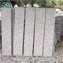 G603 Granite Garden Stone Pillars/China Sesame White Grey Granite Pineappled Palisade Landscaping Stone